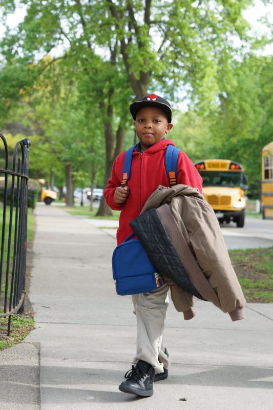 Stonebridge World School student outside of school