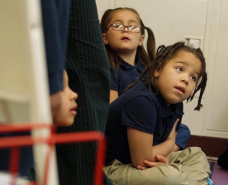 Stonebridge World School students in classroom
